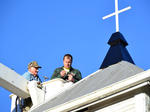 Boyd Church steeple erected