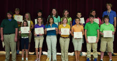 """<div class=""""source""""></div><div class=""""image-desc"""">7th grade perfect attendance. Harrison County Middle School students receiving perfect attendance awards were, front row, from left, Jameson Buckler, Tamara Lunsford, Amelia Bolin, Caitlin Harney, Victoria Switzer, Tori Watkins, Andrew Wiggins, Chris Young; second row, Jamie Davis, Rachel Jackson, Dalton Covert, Shelby May, Mary Malcolm Levi, Brett Bowen, Timmy Lail.</div><div class=""""buy-pic""""></div>"""