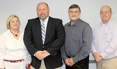 """<div class=""""source"""">Ben Hyatt</div><div class=""""image-desc"""">Pictured above is magistrate Missy Lutz with new Parks and Recreation personnel Brad Steele, director, Jim Milum, deputy director and magistrate Frank Henson. Steele and Milum were hired as the new Parks and Recreation personnel during the Feb. 26 Harrison County Fiscal Court meeting. Their first day of official work will be March 1.</div><div class=""""buy-pic""""><a href=""""/photo_select/22099"""">Buy this photo</a></div>"""