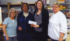 "<div class=""source""></div><div class=""image-desc"">The Kentucky Farm Bureau in Harrison County participated in National Food Check Out Week, Feb. 17-23, and donated $100 to the Harrison County Food Pantry. The KFB Program helps provide an understanding of where food comes from and how pricing is established. Pictured from left, are: Joyce Cowden, Marilyn Wash, Ashley Dunnaway and Dee Chandler.</div><div class=""buy-pic""></div>"