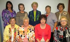 """<div class=""""source""""></div><div class=""""image-desc"""">HMH Auxiliary officers for the 2013-2014 year are: front row, from left, Corresponding Secretary Nancy May, Vice President Bettye Marshall, President Theresa Philpott, Secretary Janice Doan; second row, Ways and Means Chair Christy Hall, Treasurer Carolyn Miles, Gift Shop Buyer Judy Letcher, Public Relations Chair Bonnie Teater, Gift Shop Buyer Judy Letcher, Gift Shop Coordinator and Mary Jane Bell. Absent from photo was Historian Vivian Smith.</div><div class=""""buy-pic""""></div>"""