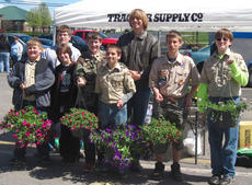 "<div class=""source""></div><div class=""image-desc"">Members of Boy Scout Troop 76 held their third annual Flower Fundraiser this weekend at Tractor Supply. They will have leftover flowers and tomatoes for planting available on the opening day of the Cynthiana Farmer's Market. Proceeds from the flower sale helps these boys attend the Boy Scout Summer Camp and do other troop activities. For more information contact Tim Lail at 588-9370 or Kerstin DeRolf at 234-9428. Pictured are: Benjamin and Brian Merriman, Brandon Turnberg, Henry DeRolf, Lee Perkins, Timmy Lail, Gregory Dick and Andrew Franklin.</div><div class=""buy-pic""></div>"