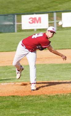 """<div class=""""source"""">courtesy Donald Richie/Richie Photography</div><div class=""""image-desc"""">Taylor Hill was on the mound for the Breds Monday as they hosted Bishop Brossart. The Thorobreds came away with the win, 9-0. The 38th District Baseball Tournament will be held at Harrison County on Monday, Tuesday and Wednesday, next week.</div><div class=""""buy-pic""""><a href=""""/photo_select/11645"""">Buy this photo</a></div>"""