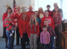 "<div class=""source""></div><div class=""image-desc"">MARCUS BAPTIST CHURCH and Berry Church members wore red in observance of Wear Red Sunday. They were: Tony Northcutt, Wyatt Gaunce, Rachel Jackson, Ashley Bramley, Landon, Lara Jackson, Katie Haley, Bailey Northcutt, April Northcutt, Wanda Thompson, Judy Martin, Jerry Martin, Jane Wade, Jace Northcutt, and Jeromey Northcutt.</div><div class=""buy-pic""><a href=""/photo_select/22144"">Buy this photo</a></div>"