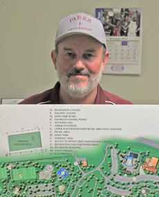 "<div class=""source"">Josh Shepherd</div><div class=""image-desc"">Photo by Josh Shepherd Darrell Baxter, Director of Cynthiana Harrison County Parks and Recreation Department, tries to match old master plan to reality at Flat Run Veteran's Park. </div><div class=""buy-pic""><a href=""/photo_select/25828"">Buy this photo</a></div>"