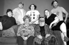 """<div class=""""source""""></div><div class=""""image-desc"""">meet the turpins from dearly departed — Jennifer Arnold (Lucille), Roger Slade (Ray Bud), Davye Hisle (Delightful), Lisa Ridenour (Suzanne), Greg Shirley (Junior); Deana Wiglesworth (Raynelle), and Bob Laytart (Uncle Norville and the late Bud Turpin).</div><div class=""""buy-pic""""><a href=""""/photo_select/27097"""">Buy this photo</a></div>"""