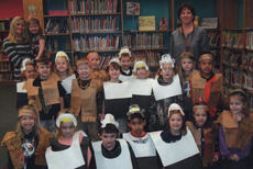 """<div class=""""source""""></div><div class=""""image-desc"""">On Nov. 14, Southside Pre-K students of Ms. April and Ms. Patty celebrated Thanksgiving by having """"The First Thanksgiving Feast."""" The children dressed as Native Americans and pilgrims and shared food such as beef jerky and deer meat. Songs were sang and homemade gifts were exchanged.</div><div class=""""buy-pic""""></div>"""