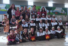 "<div class=""source""></div><div class=""image-desc"">On Nov. 14, Westside Pre-K pilgrims celebrated Thanksgiving with the Northside Native Americans. A feast was shared with food such as beef jerky and homemade cornacopias. Gifts were exchanged and songs were sung for the celebration. Students participating were Ms. April and Ms. Patty's Westside Pre-K class and Ms. Pam and Ms. Cary's Northside Pre-K class.</div><div class=""buy-pic""></div>"