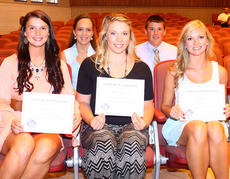 "<div class=""source""></div><div class=""image-desc"">The Harrison County Soil & Water Conservation District awarded five scholarships in 2014. The Charles Tribble Conservation Scholarship is a $1,000 scholarship available to any high school senior or graduate who is a resident of Harrison County and will be enrolled in a minimum of six credit hours at a two- or four-year accredited institution in a conservation, environmental, and/or science program of studies. The 2014 recipients are: front row, from left, Marly Jenkins, Madison Dixon, Ally Barnett; back row, Audrey Ramsey (receiving a Bracken County Conservation District Scholarship), and John VanHook. (As well as, Alyssa Campbell, not pictured.)</div><div class=""buy-pic""></div>"