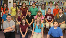 """<div class=""""source"""">Robin Smiley</div><div class=""""image-desc"""">The Gold Reading Counts top readers for the second nine weeks were: front row, from left, J.D. Denniston, Isabelle Martin, Christen Smith, DeForest Adams; second row, Isaiah Stiltner, Evey Barker, Trenton Henderson, Michelle Halderman, Gracie Roberts, Alexis Davis; back row, Mackenzie Sumpter, Lauren Bentley, Brittany Martin, T.J. Rowland, Caitlynn Hamilton, Connor Lakes, Brent Hudgins.</div><div class=""""buy-pic""""><a href=""""/photo_select/26089"""">Buy this photo</a></div>"""