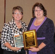 "<div class=""source""></div><div class=""image-desc"">Harrison County Schools won the top award at the Kentucky School Public Relations Conference. Susie Hart, KYSPRA President, left, presented the awards to Melissa Shepard, Harrison County School's CIO. School public relations professionals joined together in Lexington on Sept. 29 and 30 for KYSPRA's (Kentucky School Public Relations Association) annual Conference. The two day event touted the state's top officials speaking on various school public relations topics. Workshops were held affording those in attendance the opportunity to enhance their skills in the areas of community engagement, school and community relations and collaboration, parent involvement and other areas. Those attending were Debra Fischer, Judy Feeback and Shepard. On Friday KYSPRA held its annual OASIS (Outstanding Award in School Information Services). Harrison County was awarded first place for its website tying with Jefferson and Fayette counties. The district also was awarded second place for its Digital Citizenship event.</div><div class=""buy-pic""></div>"