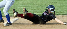 """<div class=""""source"""">Donald Richie</div><div class=""""image-desc"""">Junior Emalee Little takes second base out of the ground last Thursday. The fastpitch Fillies started off slow against Nicholas County, but bounced back and came away with the 3-2 win.</div><div class=""""buy-pic""""></div>"""