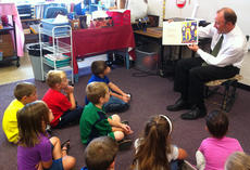 "<div class=""source""></div><div class=""image-desc"">Students in Tammy Free's kindergarten class at Southside got a treat when Steven Fowler, principal, came to the classroom to share a book with them.  He read the book My Principal Lives Next Door, written by third-grade students at Sanibel Elementary School, Sanibel, Fla. Fowler shared a lesson with the students about how they can depend on him as their principal.</div><div class=""buy-pic""></div>"