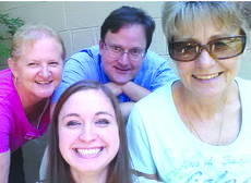 "<div class=""source"">Kayla Pickrell</div><div class=""image-desc"">Kayla Pickrell, front and center, intern with the Cynthiana Democrat news staff: Becky Barnes, Editor; Josh Shepherd and Robin Smiley</div><div class=""buy-pic""></div>"