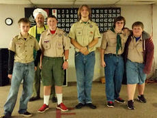 "<div class=""source""></div><div class=""image-desc"">Scouts in Troop 76 held a pancake breakfast fundraiser this past weekend at the Cynthiana Elks Lodge who provided the food. Pictured are: front row, from left, Drew Dorsey, Henry DeRolf, Timmy Lail, Andrew Franklin, Benjamin Merriman; second row, Scoutmaster Tim Lail. Absent from photo were Brandon Turnberg, Evan Copes and Gregory Dick.</div><div class=""buy-pic""></div>"