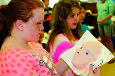 "<div class=""source"">Josh Shepherd</div><div class=""image-desc"">Haley Covington looks over the progress of her life mask which she is creating in Beth Thompson's art class at Southside. Thompson's fourth and fifth grade students in all Harrison Elementary schools will display their masks at the spring art show at the LVC jobs training site in the Harrison Square Shopping Center on Thursday, May 22.</div><div class=""buy-pic""><a href=""/photo_select/27407"">Buy this photo</a></div>"