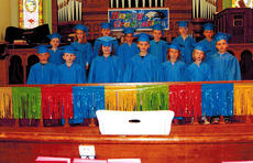 """<div class=""""source""""></div><div class=""""image-desc"""">The United Preschool at 1st United Methodist Church held its graduation ceremony for the 2013 graduating class on May 16, in the church sanctuary. The class included: Wilson Barnes, Aidan Brogli, Elisse Burrier, Gannon Crump, Kiya Fizette, Annabel Grose, Harrison Hatter, Aiden Ishmael, Lilly McCarty, Forrest Montgomery, Tony Northcutt, Owen Northcutt, Barrett Philpot and Brayden Turner.</div><div class=""""buy-pic""""></div>"""