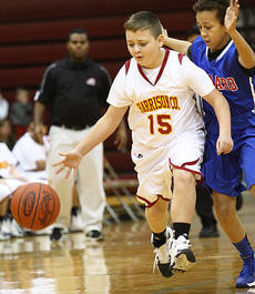 "<div class=""source"">Donald Richie</div><div class=""image-desc"">Aaron Gaunce moves the ball up the court for the sixth grade Colts in their matchup against McNabb Middle School Monday.</div><div class=""buy-pic""></div>"