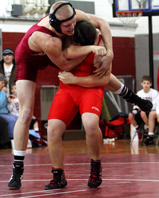 """<div class=""""source"""">Donald Richie</div><div class=""""image-desc"""">Brandon Barnett was honored in part one of the Thorobreds Wrestling team's senior night (Dwayne Moore will be honored at a later match) and celebrated by getting two wins, falls over Anderson and Scott Counties, last Wednesday.</div><div class=""""buy-pic""""></div>"""