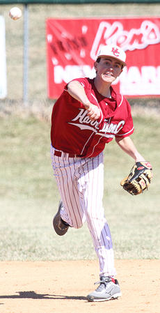 """<div class=""""source"""">Donald Richie</div><div class=""""image-desc"""">Brett Persinger fires the ball from shortstop to first Saturday as the Thorobreds baseball team opened the 2014 season with a 6-2 win over Grant County on the Hilltop.</div><div class=""""buy-pic""""></div>"""
