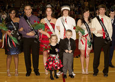 """<div class=""""source"""">Donald Richie</div><div class=""""image-desc"""">The 2013 basketball homecoming court, crowned last Friday, is, front row, crown bearers Cadence White and Weston Hill; back row, second runners up Yasmeen Smith and Trent Dixon, queen Jenna Nunnelley, king Sam Doyle, first runners up Morgynn McDaniel and Cody Northcutt.</div><div class=""""buy-pic""""></div>"""
