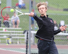 "<div class=""source"">Donald Richie</div><div class=""image-desc"">Senior Jacob Markley placed third in singles at the regional tennis tournament last weekend, earning a spot in the State Tournament.</div><div class=""buy-pic""></div>"