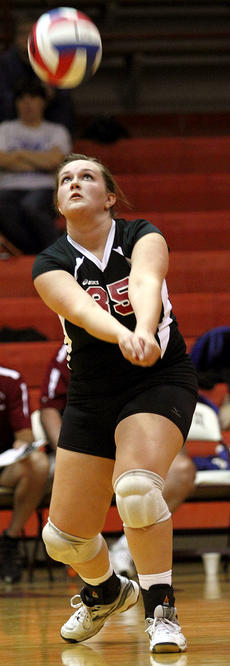 """<div class=""""source"""">Donald Richie/Richie Photography</div><div class=""""image-desc"""">Fillies senior Kaitlyn Gooden returns the ball against Bracken County Tuesday. The Fillies volleyball team holds its annual Fall Fling this Saturday at HCHS.</div><div class=""""buy-pic""""></div>"""