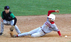 """<div class=""""source"""">courtesy of Donald Richie/Richie Photography</div><div class=""""image-desc"""">Robbie Stroub takes advantage of the short throw by East Jessamine to get to second base last Saturday in the final round of the Harrison Memorial Hospital/McDonald's Classic.</div><div class=""""buy-pic""""></div>"""