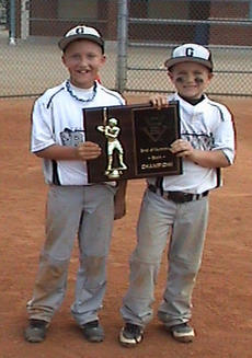 "<div class=""source""></div><div class=""image-desc"">The City of Danville hosted the End of Summer Bash 8U Coach Pitch Tournament this past weekend. The Lexington Grays finished in first place. Members of the team from Harrison County are Braxton Grubb, son of Joey and Mary Grubb, and Mason Smiley, son of Terry and Stacy Smiley.</div><div class=""buy-pic""></div>"