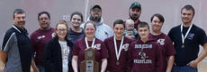 """<div class=""""source""""></div><div class=""""image-desc"""">Harrison County archery team placed second in the KHSAA Region 7 held in Falmouth this past Friday with a team score of 3240. Team members participating were: front row, from left, Katie Clough, Kristin Feeback, Kennedy Sumpter and Justin Gaunce; back row, Coach Darren Collins, Coach Larry Feeback, Kory Beth Whitehead, Coach Jamie Whitehead, Coach Jeromy Northcutt holding daughter Sylvia, Devan Justice and Trent Evans.</div><div class=""""buy-pic""""></div>"""