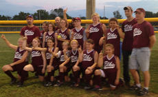 """<div class=""""source""""></div><div class=""""image-desc"""">The Elks took both the league championship and the league tournament championship at the Girls Softball Tournament at River Road Park on July 2. The team members are: front row, Brooklyn Fryman, Vic Iseman, Grace Simpson, Brooke Phelps, Kara Hines, Josie Mae Vaughn, Cheyenne Marshall; back row, Miracle Switzer, Lauren Bentley, Gracie Perraut, Gracie Hughes, Alexis Bolton. Absent from the picture were Shandi Strausbaugh and Danielle Jackson. The team was coached by Marty Simpson, Bryan Poe and Gary Bentley.</div><div class=""""buy-pic""""></div>"""