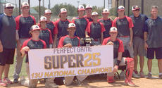 """<div class=""""source""""></div><div class=""""image-desc"""">The Jackson Mississippi National 13U Champions of Perfect Game Super 25 Final 4 are pictured with the championship trophy.  Christopher Snopek is fifth from the right (his hand on the trophy) and father Chris is second from right.  The former Harrison County star coached the team in the championship played in Texas last weekend.</div><div class=""""buy-pic""""></div>"""