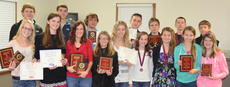 """<div class=""""source"""">Danny Simpson</div><div class=""""image-desc"""">The annual awards program of the Harrison County High School track was held Sunday, Nov. 17 at the Harrison County Extension Office. Receiving awards were: front row, from left, Caylin Mattox, Erin Bradford, Kayla Joy, Tamara Lunsford, Chelsea Bowman, Sierra Ecklar, Mackenzie Mosig, Abby Cooper, Taylor Harney; back row, Shane Palmer, Grant Carr, Nathan Radford, Harry Smith, Ross Smith, Daniel Craig, Ben Bradford.</div><div class=""""buy-pic""""></div>"""