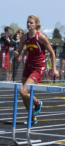 """<div class=""""source"""">Photos courtesy of Brad Laux</div><div class=""""image-desc"""">Senior Haley Carr competes in the hurdles at the Mason County Invitational Track Meet held Saturday, April 19.</div><div class=""""buy-pic""""></div>"""