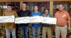 """<div class=""""source""""></div><div class=""""image-desc"""">Jordan Allison, Austin Bradford, Justin Barnes, Chance Beverly. Barnes was third overall high individual of the contest. Also pictured is Pat Weber of Ohio Technical College. The $5,000 scholarships were for Ohio Tech.</div><div class=""""buy-pic""""></div>"""