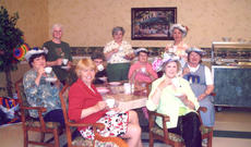 "<div class=""source""></div><div class=""image-desc"">Homemakers participating in the annual tea party are: front, from left, Karen Creger, Theresa Martin; second row, Linda Durkan, Jane Kearns, Phyllos Ross; standing, Ruth Erwin, Jane Butcher, Cheryl Case.</div><div class=""buy-pic""><a href=""/photo_select/13623"">Buy this photo</a></div>"