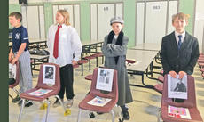"<div class=""source""></div><div class=""image-desc"">WESTSIDE ""WAX"" FIGURES Students at Westside Elementary School portray historic figures in wax. Parents and teachers push a button and the students relate who they are portraying. Featured in the photo are Tiffani Hill, Braden Bell, and Kaden Streitenberger as Martin Luther King, Leonardo da Vinci, and John F. Kennedy</div><div class=""buy-pic""></div>"
