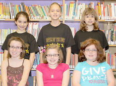 "<div class=""source""></div><div class=""image-desc"">SOUTHSIDE INTERMEDIATE. Southside Elementary's Intermediate participants in the Battle of the Books were: front row, from left, Addison Moore, Jacqueline Smith, Emma McGee; back row, Grace Simpson, Melony Dunaway, Hannah Bevins.</div><div class=""buy-pic""><a href=""/photo_select/17995"">Buy this photo</a></div>"