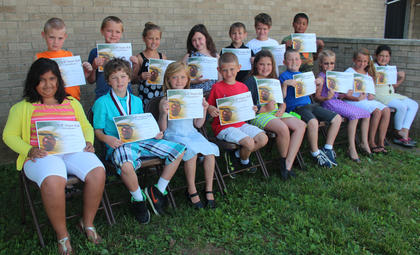 Third grade students recognized  on the A/B Honor Roll were: front row, from left, Jaelyn Camacho, Garylee Gooden, Morgan Mink, Leyden Nelson, Sara Sampley, Brayden True, Hannah Stefanic, Haley Hayes, Paige Owens; back row, Reece Thomason, Mason Sears, Emma Withers, Nicole Richards, Titan Mastin, Christopher Barnett, Maddox Williams.