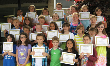 3rd and 4th Reading and Math. Eastside Elementary students receiving Reading and Math awards were: front row, from left, Madalynn Jones, Ava Craig, Gavyn Hubbard,  Allen Crump, Auna Caudill, Makayla Skiba; second row, Albert Carson, Cameron White, Caden Maners, Kylie Hudgins, Anna Garrison, Amber Fryman, Kyle Shepperd, Amber Kerns; third row, Gunner Cole, Leah Kiskaden, Vince Ferguson, Jeremiah Peveler, Gracie Wyatt, Will Johnson; back row, Logan Cummins, Jenna Collins, Josie Vaughn, Ben Lemmings, Paul Coy, Brooklynn Phelps, Isabel Sims.