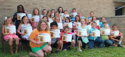 Fourth grade students recognized  on the A/B Honor Roll were: front row, from left, Ambria England, Andrew Harpe, Trenton Bedford, Jessica Florence, Landon Franks, Kenneth Dunn, Landon Ritchie; second row, Gabrielle Florence, Alexis Wright, Demi Lemons, Kalee Tucker, Addey Allison, Carli Withers, Harley Chapman, Madison Soard, Taylor Edwards; third row, Kirsten Griggs, Allie Kearns, Adrianne Thomason, Brooklyn Jett, T.J. Beamon, Jared Noble, Ethan Jette; back row, Savannah Irvin, Lukas Etienne, Jena Pope, Haley Young, Landon Whitaker.