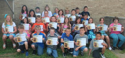 Fifth grade students recognized  on the A/B Honor Roll were: front row, from left, Bryce Zumwalt, Jude Thompson, Tucker Wear, Kaden Streitenberger, Lucas Thompson, Brayden Mitchell; second row, Mallory Creech, Meagan Griffieth, Derek Dawson, Blade Masterson, Kacey Brierley, Madison Mink, Jayden Shaw, Kayleigh Simpson, Elizabeth Uhles; third row, Emma Tackett, Mackenzie Hersha, Taryn Collier, Trey Beckelhimer Conner Kilpela; back row, Hannah Delong, Lance Collins, Katie Coghill, Alana Edwards, Dalton Elligson, Spencer Boggs, Ian Boland.