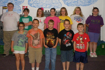 4th Grade A/B Honor Roll. Fourth grade Northside Elementary students recognized on the A/B Honor Roll were: top row, from left, Jason Gant, Landon Bowlin, Rachel Clifford, Abbi Maryea, Brooklyn Fryman, Kaden Culberson, Alexys Switzer; bottom row, Hope Stiltner, Austin Pack, Aaron Pickett, Landon Baker, Justin Gaunce.