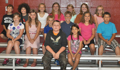 Students receiving awards were: front row, from left, Extra Effort- Blake Furnish, Denise Soto; second row, 4th Grade Achievement- Makenzie Fister, Madison Denniston, Alex Sledd, Trent Fry, Devin Covert, Dawson Covert; third row, 5th Grade Achievement- J. D. Soard, Patrick Marshall, Laurel McDaniel, Hailey Herrington, Kendall Box, Morgynne Lunsford, Liza Jane Gossett.
