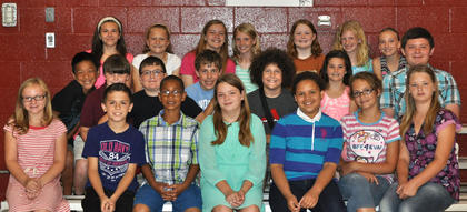 Receiving the STLP award were: front row, from left, Liza Jane Gossett, Bradyn Lukins, Tayvone Williams, Kassidi Snapp, Arya Curtis, Lily Nickerson, Katelyn Florence; second row, Sam Hassall, Drew Hodge, Calvin Bartels, Ryley Dahmer, Patrick Marshall, Emma Moore, Isaiah Morris; third row, Tatum Cummings, Lauren McDaniel, Hailey Herrington, Kendall Box, Morgynne Lunsford, Payton Doyle, Bailey Thompson.