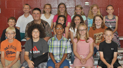 The Library award recipients were: first row, from left, Benton Bramel, Patrick Marshall, Tayvone Williams, Liza Jane Gossett, Anthony Worley; second row, J. D. Soard, Skylar Amburgey, Emma Moore, Taylor Hunt, Morgynne Lunsford; third row, Nick Royalty, Laurel McDaniel, Hailey Herrington, Kendall Box, Payton Doyle, Bailey Thompson.