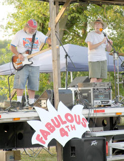 The Blue Collar Rebel Band, which entertained the crowd before the fireworks display at Flat Run Veterans' Park.