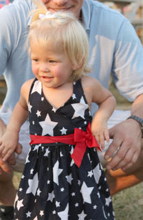 Braelyn Wiglesworth sporting off her red, white and blue colors.