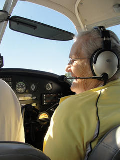 "On Sept. 22, nine Cedar Ridge residents took to the skies in the annual Silver Eagles Road Trip. Volunteer pilots from Cynthiana and surrounding communities volunteered their time and their planes to make that Saturday morning special for the residents. Three of Cedar Ridge's copilots had the experience of taking to the skies for the first time. Geraldine Brown, Sue Brock, and Dorothy Kelly all earned their first set of wings. When pilot Nick Anderson realized it was Sue Brocks first time in an airplane, he showed her what it was like to see the clouds from all angles. He flew the plane below the clouds, above the clouds, and right through one. According to Anna Mae Crawford, ""it's almost like being in heaven."" The weather couldn't have been better for the adventurous seniors. White clouds accompanied the planes as the residents took turns seeing Cynthiana from the bird's eye view. The Silver Eagles included: Louise Spring, Gladys Duncan, Sue Brock, Mary Tantilo, Emily Florence, Dorothy Kelley, Wilma Toy, Anna Mae Crawford, and Geraldine Brown. Cedar Ridge would like to extend warm wishes of gratitude to the Cynthiana Airport, pilots, volunteers and everyone that helped make the experience for the residents possible."