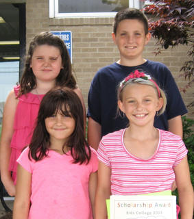 Kids College. Eastside Elementary students receiving Kids College awards were: front row, from left, Julie Coleman, Audrey Reed; back row, Cheyenne Cole, Dalton Maddox.